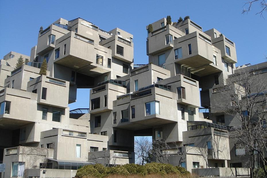 Fascinating modern architecture to 1700 manor houses it s for Habitat 67 architecture
