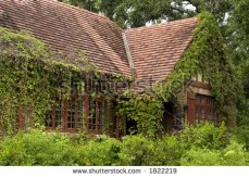 stock-photo-old-elegant-home-overgrown-with-weeds-and-ivy-on-the-house-great-shot-for-a-landscape-company-or-1822219
