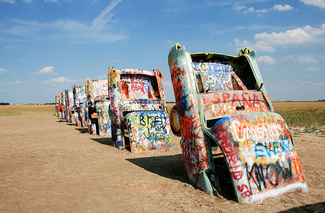 3-13-Weird-Wacky-Attractions-Route-66-Cadillac-Ranch